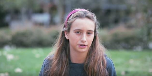 Captura del vídeo de las juventudes de Vox con la protagonista.