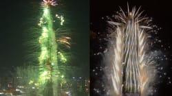 Les feux d'artifices hallucinants des gratte-ciels de Dubai et
