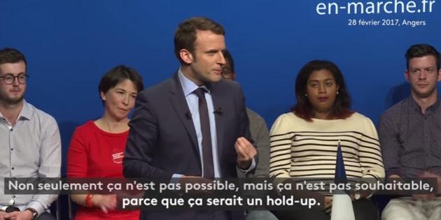 """Macron pensait qu'un parti hégémonique à l'Assemblée était """"un hold-up""""."""
