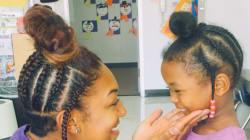 Cette enseignante a reproduit la coiffure de cette petite fille pour une bonne