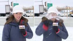 Prendre une boule de neige dans la face juste avant le direct, ça, c'est