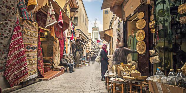 Mercado tradicional marroquí.