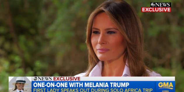 Melania Trump soutient les femmes qui parlent depuis #MeToo (mais elle aimerait des preuves)
