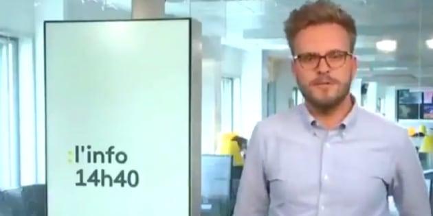 Le journaliste Léo Tescher a connu un moment de solitude en direct sur Franceinfo.