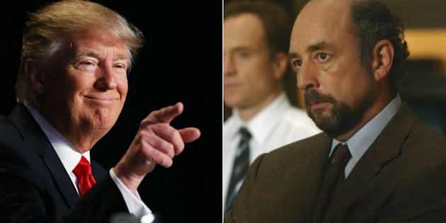 Donald Trump and Richard Schiff.