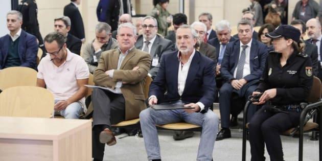 Bigotes, Crespo y Correa, durante el juicio