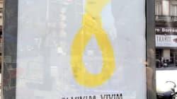 Una soga amarilla en Barcelona: