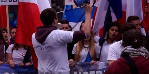 Images de propagande tournées lors du 1er mai 2014 à Paris.