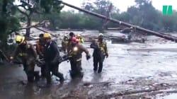 Les images des coulées de boue dramatiques qui ont fait au moins 13 morts en