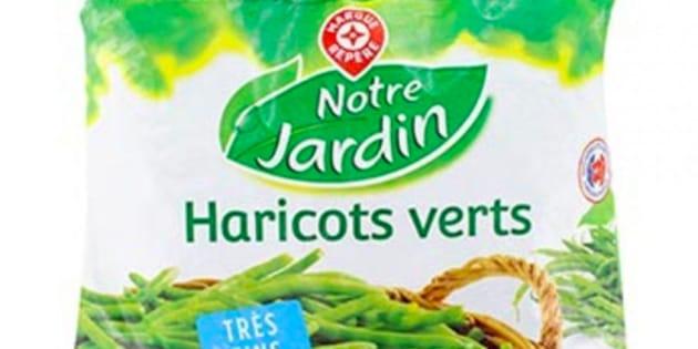 "Haricots ""Notre jardin"" de la ""Marque Repère"""