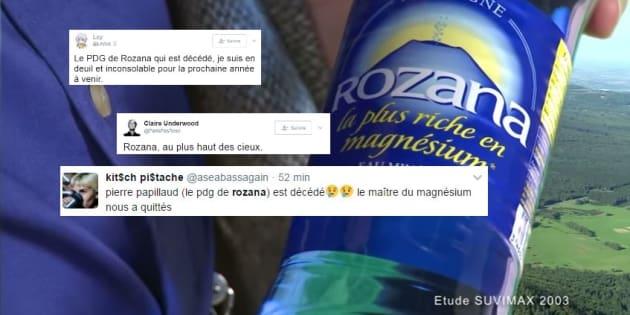 Pierre Papillaud, PDG et figure médiatique de l'eau gazeuse Rozana, est mort