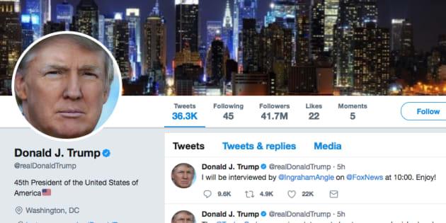 トランプ大統領のTwitterより