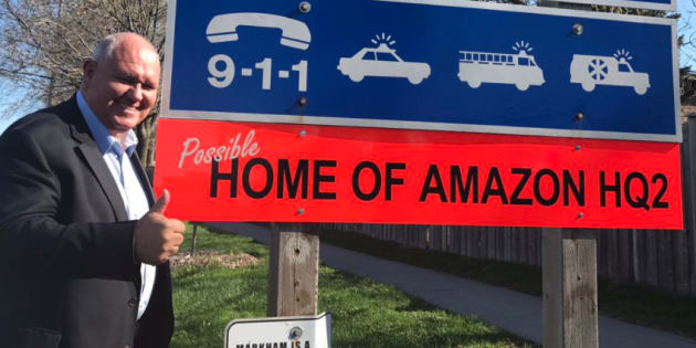 Mayor Frank Scarpitti of Markham, Ont. is pitching his city as the new home of Amazon HQ2.