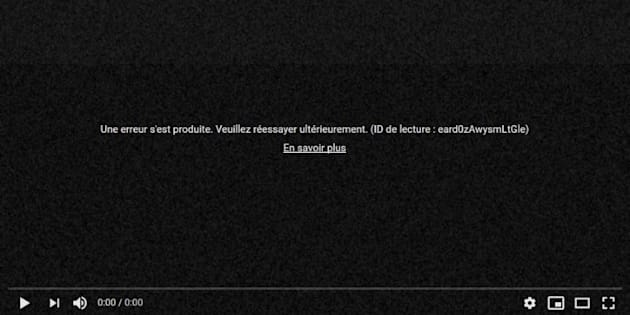 YouTube : une panne de quelques heures