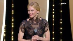 Cate Blanchett nous rappelle qu'elle parle très bien français pour son discours à