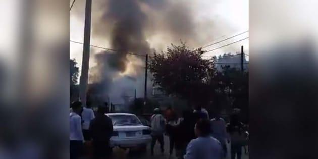 Explosión por pirotecnia en Tultepec