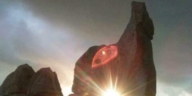 Custonaci (Trapani), tramonto al solstizio d'inverno