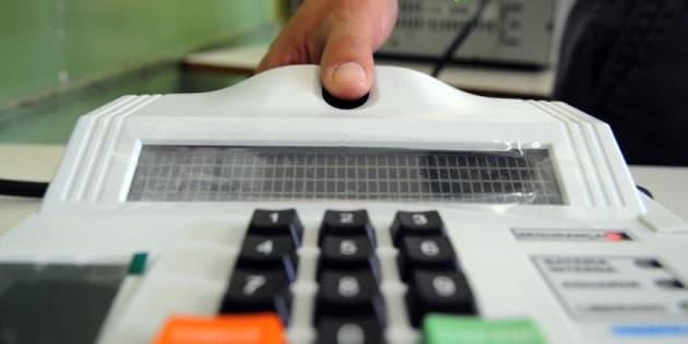 Cadastramento biométrico em 2014.