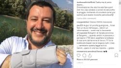 Salvini mostra il polso fratturato su Instagram: