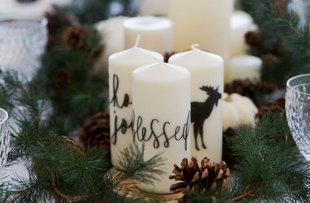 Thanksgiving garland candle centerpiece aol lifestyle