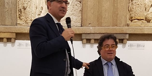 Giuliano Volpe (s) e Sebastiano Tusa (d)