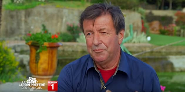"""Daniel Malgouyres, durant le tournage de l'émission """"le jardin préféré des français"""", en 2013."""