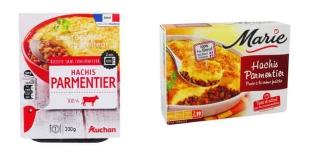 La quantité de viande dans les hachis parmentier vendus en grande surface ne dépend ni de la marque, ni du prix.