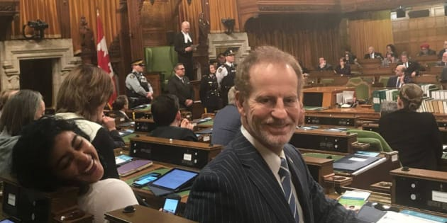 Liberal MP Nicola Di Iorio is shown in the House of Commons in an undated photo posted to his Facebook account.