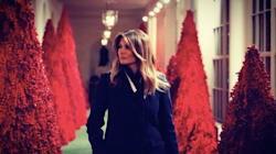 Melania Trump's Red Christmas Trees Conjure 'Handmaid's Tale' For Twitter