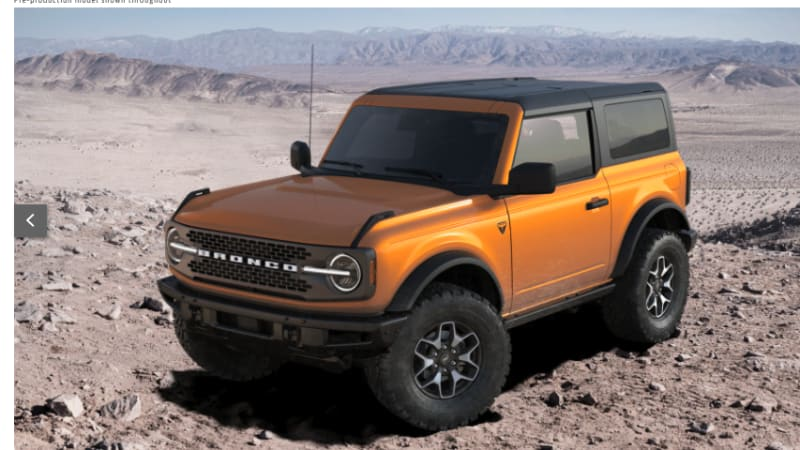 2021 Ford Bronco Build And Price Configurator Tool Has Returned Autoblog