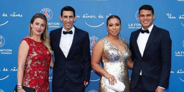 Les joueurs du PSG et leurs femmes sur leur 31 au Gala de la Fondation