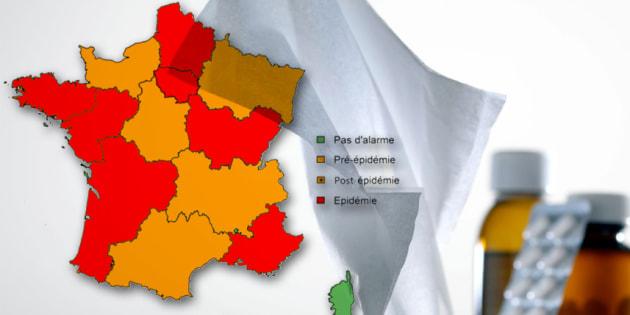 Grippe, gastro... Épidémie dans 8 régions de France métropolitaine. En faites-vous partie?