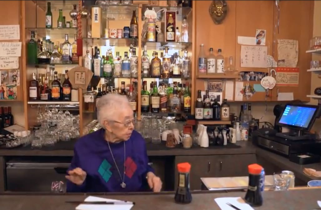 89-year-old Fusae Yokoyama has spent 58 years working for Seattle's oldest sushi restaurant