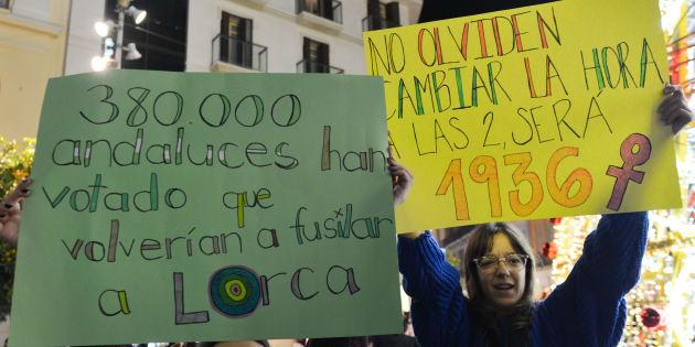 Protesta contra Vox.