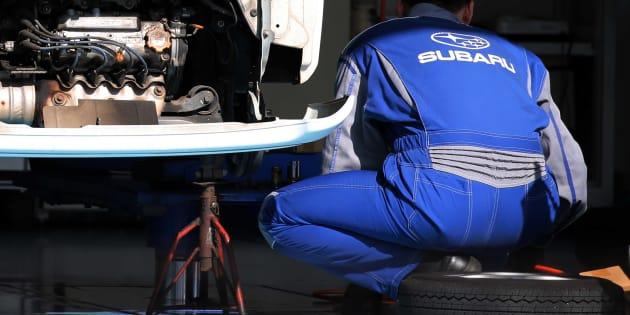 Test de accidentes de un coche de Subaru en Tokio, Japón. Hitoshi Yamada/NurPhoto via Getty Images