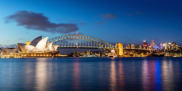 Skyline de Sydney, na Australia.