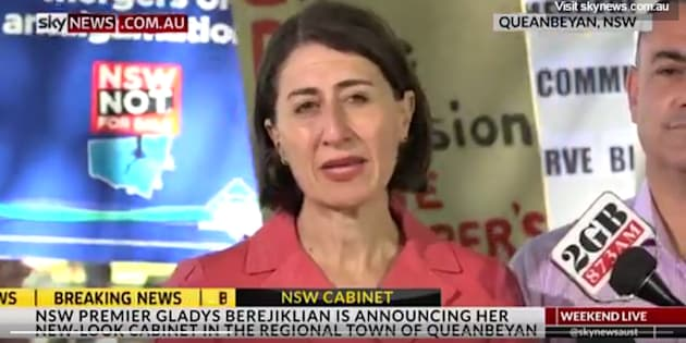 Gladys Berejiklian battled through a tough press conference on Sunday.