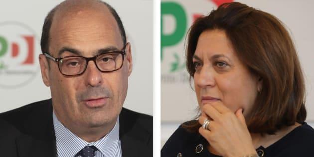 Nicola Zingaretti e Catiuscia Marini