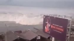 Les images du tsunami qui a frappé les côtes des