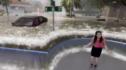 Alucina con cómo alerta sobre el huracán 'Florence' esta mujer del