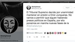 Anonymous anuncia acciones por la decisión del Supremo de mantener en prisión a