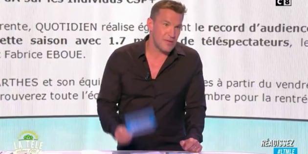 """""""TPMP vs """"Quotidien"""": Benjamin Castaldi tacle """"Quotidien"""" et son public pour défendre la place de leader des talk-show de Cyril Hanouna"""