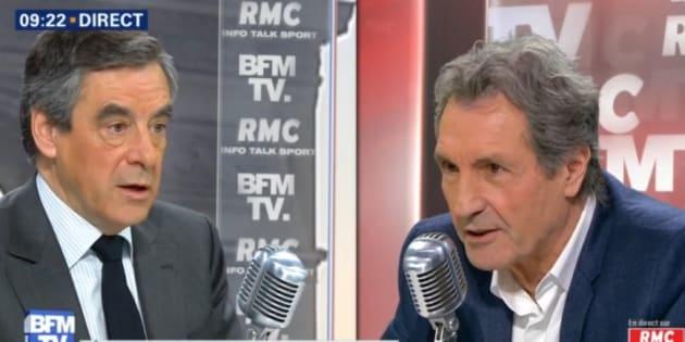 François Fillon et Jean-Jacques Bourdin le 3 avril dernier.