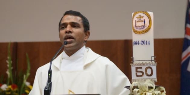 File photo of Rev Tomy Kalathoor Mathew, 48, who was stabbed on Sunday, 19 March, 2017, in a church in Melbourne.