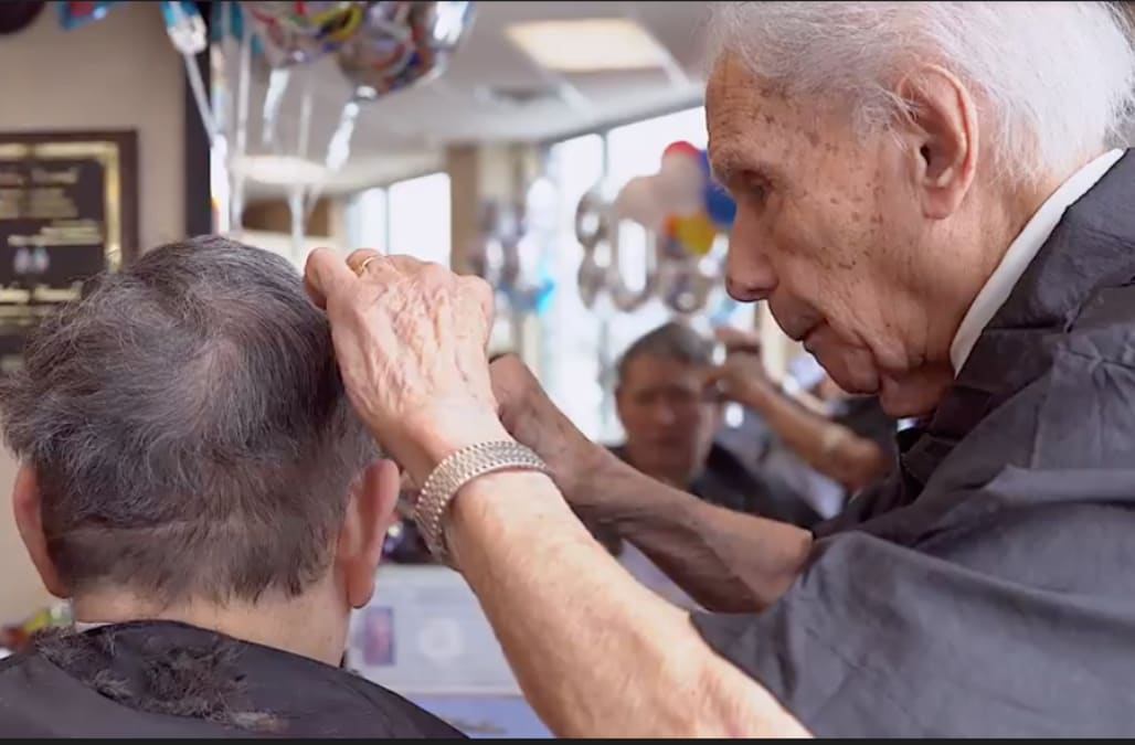 At 108-years-old, Anthony Mancinelli is the world's oldest barber