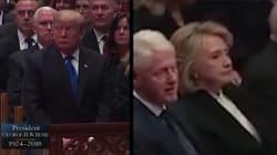 Quand Trump et Clinton se croisent, c'est toujours