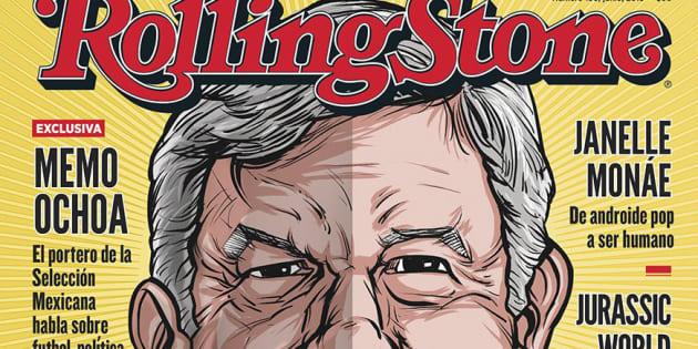 La portada de Rolling Stone del mes de junio tiene al candidato presidencial de Juntos Haremos Historia, Andrés Manuel López Obrador.