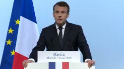 Macron ouvre la porte à l'inscription de la Corse dans la Constitution (mais claque toutes les