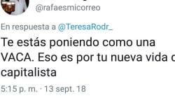 La respuesta de Teresa Rodríguez a este grave insulto sobre su