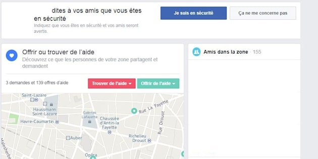 Attaque au couteau à Paris: Facebook active son Safety Check